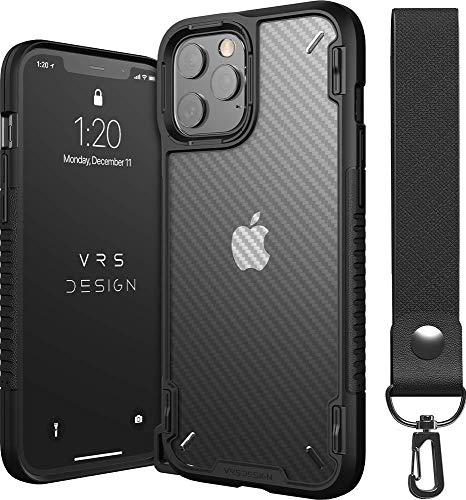 【VRS】 iPhone12Pro Max 対応 ケース 耐衝撃 クリア カーボン 調 携帯ケース …