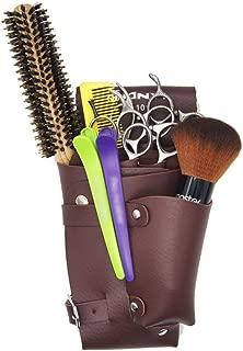 Hair Cutting Tool Barber Comb Scissors Waist Belt Pouch Hairdressing Scissors Shears Holster Pouch Hairdressing Tool (Color : Brown)
