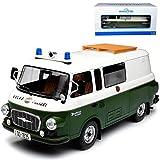 Ixo Barkas B1000 Bus Halbbus Volkspolizei Grün Weiss DDR 1961-1990 1/18 Modell Auto