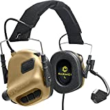 EARMOR Tactical Headset Hunting & Shooting Earmuffs with Microphone, Sound Amplification, Nato TP120 Jacket, Tan