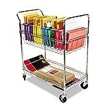 Alera ALEMC3518SR Carry-All Cart/Mail Cart, Two-Shelf, 34-7/8w x 18d x 39-1/2h, Silver...