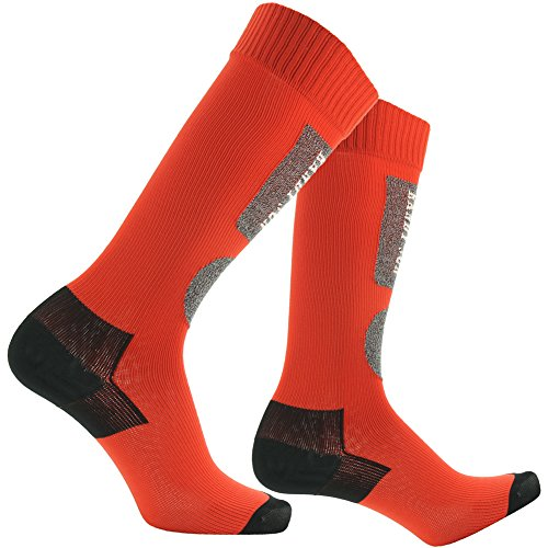 Running Hiking Socks, [SGS Certified]RANDY SUN Men's Warm and Soft Best Snow Sports Knee High Socks Red&Black S