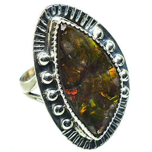 Ana Silver Co Large Ammolite Ring Size O (925 Sterling Silver)