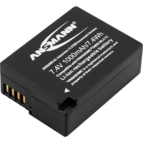 ANSMANN Kamera Akku DMW-BLC12 7,4V, 1000mAh - ideal für Panasonic Lumix G5, G5K, G5W, G5X, G70, GX8, GH2 / FZ62, FZ200, FZ300, FZ1000, FZ2000 uvm.