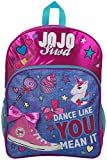JoJo Siwa Bow Backpack Ruck Sack Bolso de Hombro Denim Large Pocket Print Pack Unicorn Bow y Brillo Detalles School, Holiday o Dance Bag