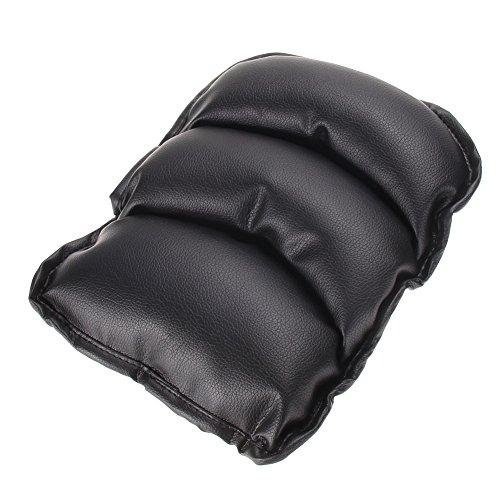 Demiawaking Universale Cuscino di Supporto per Bracciolo Centrale Auto in Pelle PU (Nero)