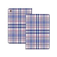 iPad Pro 11 ケース 2020 手帳型 市松模様、国風の昔ながらのパターンピクニックテーマ明るい色、紫青白ピンク 市松模様 [Apple Pencil 2 ワイヤレス充電対応] オートスリープ/ウェイク ブックカバーデザイン 角度調節可能なスタンド アーバンプレミアムフォリオケース iPad 11インチ(2020)専用 紫青白ピンク