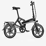 Hmvlw Bicicleta Plegable Bicicletas eléctricas Plegables, Transporte pequeño asistido por el Poder, Hombres y Mujeres, Bicicletas livianas de batería de Litio, adecuadas para Adolescentes y Adultos