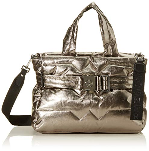 Bogner Damen Meribel Leonie Handbag Lhz Henkeltasche, Silber (Gun), 14x28x33 cm