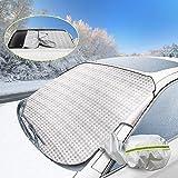 AODOOR Protezione Parabrezza, Copriauto per Parabrezza, Copertura Parabrezza Auto Impermeabile Telo Parabrezza Copriparabrezza Anti-Gelo Inverno Anti-Ghiaccio Copri Protegge Adatto (183cmx116cm)