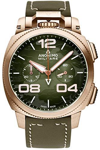 Anonimo Militare Reloj para Hombre Analógico de Automático con Brazalete de Piel de Vaca AM112301002A05
