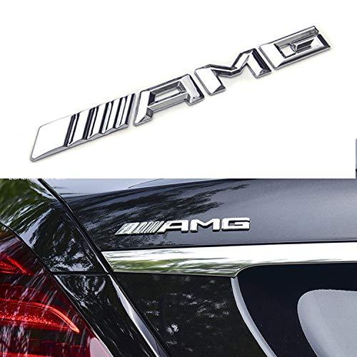 HUAYT Alloy AMG Emblem Trunk Logo seitlich vom Kotflügel des Kofferraums hinten Autoaufkleber Dekoration passend für alle G E S CLS GLE GLS C-Klasse