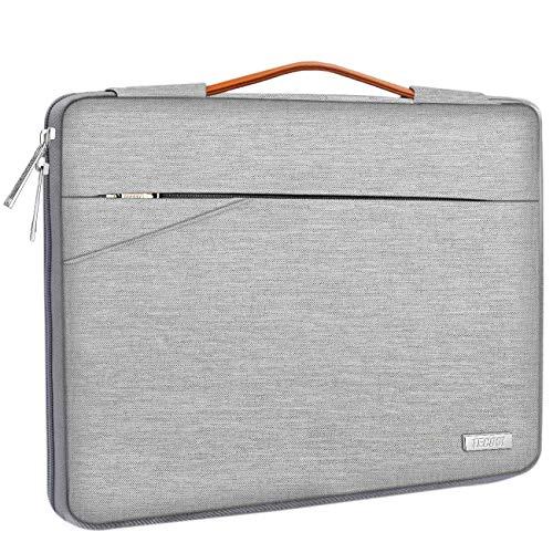 TECOOL 14 Zoll Laptop Hülle Tasche Notebook Aktentasche Stoßfestes Tragetasche Schutzhülle mit Fronttasche für 14 Zoll Acer/Asus/Dell/HP/Huawei/Lenovo Notebooks Ultrabooks Netbooks, Grau