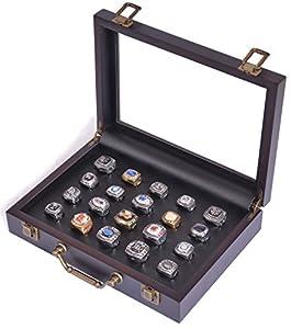 Brand New World Furniture Ring Display case 20 Cut, Black