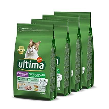 Ultima Cibo per Gatti Sterilizzati per Prevenire Problemi alle Vie Urinarie con Pollo – Confezione da 4 x 1,5 kg – Totale: 6 kg