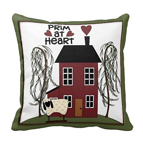 Primitif à cœur Country Mouton Maison Decor Couvre-lit R80b85 F3 C5 F2 a4a83bd3e62ecf8365277 I5fqz 8byvr Taie d'oreiller 45,7 x 45,7 cm