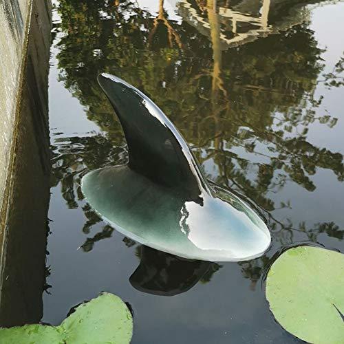 N-R Haifischrücken-Ornament, Gartenteich schwimmendes Tier Haifischflosse Modell Simulation Ornament Dekoration