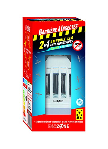 Barriere A Insekten® Leuchtmittel Moskitofenster barzone Leuchtmittel LED Moskitofenster 2in 1–Schutzhülle 1Birne, rot, 8x 8x 16.5cm