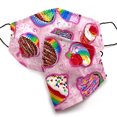Stoffmaske Cupcake, Mund Nasen Schutz, Mundschutz, Behelfsmaske, MNS, Maske, Gesichtsmaske, Mundschutz Maske, Stoffmasken, Mundschutzmasken Stoffmasken