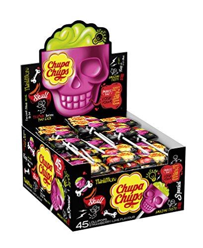 Chupa Chups Skull Lolly - Strawberry & Lime - 45 lollipops