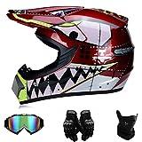 EA-SDN Casque de moto motocross homme (S)