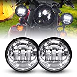 LX-LIGHT Dot approved 2 PCS Chrome 4.5 Inch Cree LED Passing Light LED Fog Lamps for Motorcycles Auxiliary Light Bulb Motorcycle Projector Driving Lamp