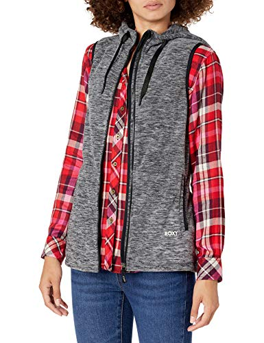 Roxy Junior's Electric Feeling-Fleece Vest, Anthracite, XL
