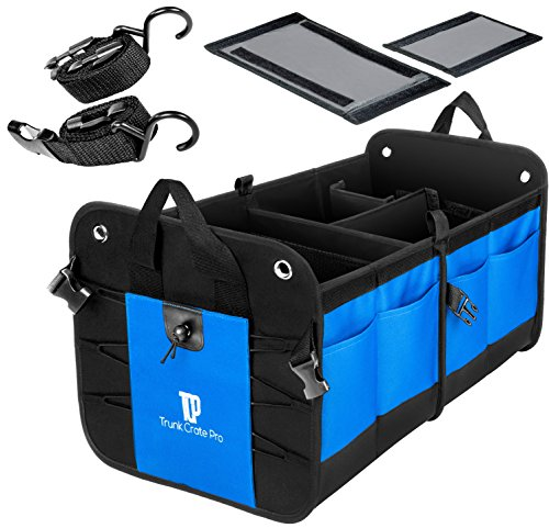 TRUNKCRATEPRO Collapsible Portable Multi Compartments Heavy Duty Non-Slip...