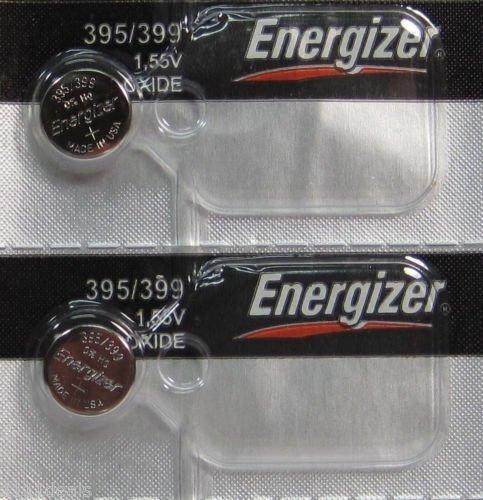 2 Pk 395 Energizer watch battery SR927W 395/399 SR927SW NEW