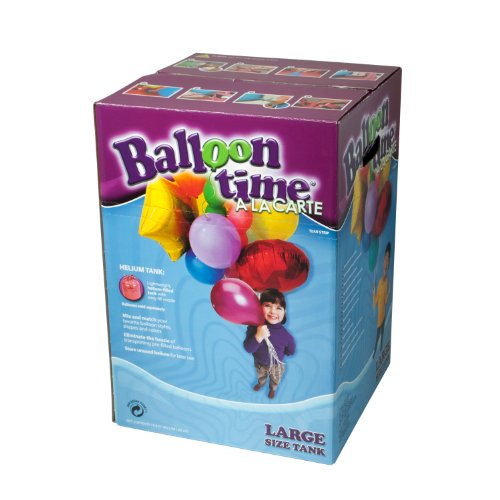 Balloon Time - 50 Globos de colores con botella de helio desechable