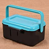 ELECTROPRIME Fishing Bait Box Red Worm Portable Tackle Compartment ABS Clamp Accessories
