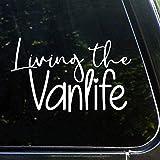 Living The Vanlife Autocollant en vinyle étanche pour voiture, ordinateur portable, fenêtre, etc.