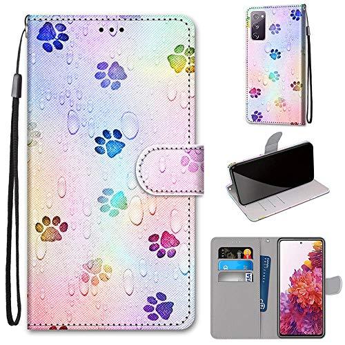 DICASI Handyhülle für Samsung Galaxy S20 FE Hülle, Premium stoßfest PU Leder Flipcase Magnetverschlüsse Schutzhülle Klapphülle Brieftasche für Samsung Galaxy S20 FE 4G/5G