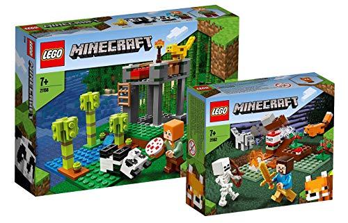 Collectix Lego Minecraft - Set: 21158 Der Panda-Kindergarten + 21162 Das Taiga-Abenteuer