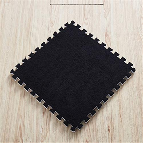 XCHJY Carpet Living Room 8/10/12Pcs 30 * 30 * 1cm Living Room Bedroom Children Kids Soft Carpet Patchwork Jigsaw Splice Heads Climbing Mat (Color : Black, Size : 8 pcs)