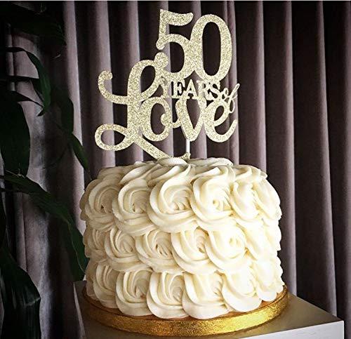 50 jarig jubileum 50 jarig liefdestaart Topper verjaardag taart Topper 50 jarig huwelijk Vow Hernieuwing