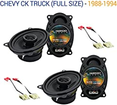Compatible with Chevy CK Truck (Full Size) 1988-1994 Factory Speaker Upgrade Harmony (2) R46 New