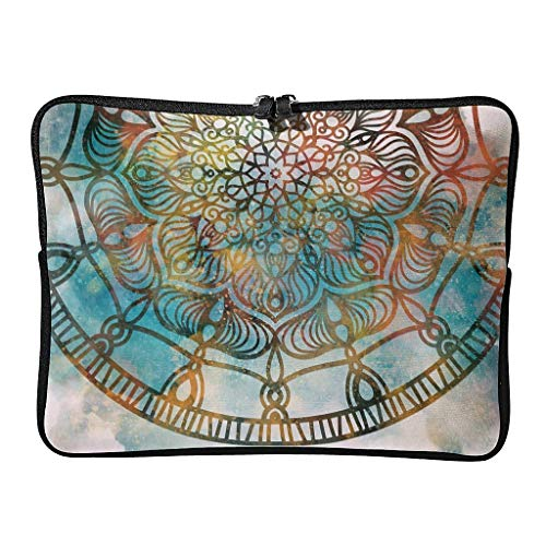 Everyday Flower Magical Laptop Bags Funny Multifunctional - Bohemian Laptop Cases Suitable for Outdoor white6 17 Zoll