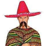 Guirca 13656 - Sombrero Mexicano Paja 60 Cms. Rojo