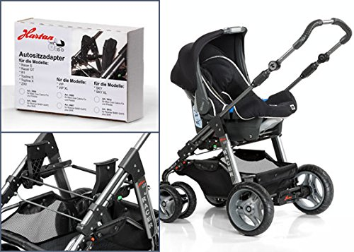 Hartan Adapter Sky,VIP,Xperia,Topline,Racer,Skatr GT zu Römer Baby Safe Plus SHR 2, Bab Safe I-Size