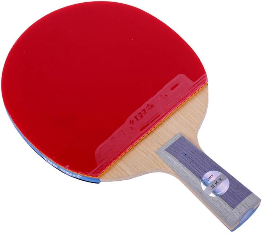 KCGNBQING TB2 / TB6 Stars Professional Mesa de Tenis de Mesa, Ping Paddle, Adecuado for Entrenadores, Aficionados, Principiantes, Expertos/como se Muestra/Mango Largo