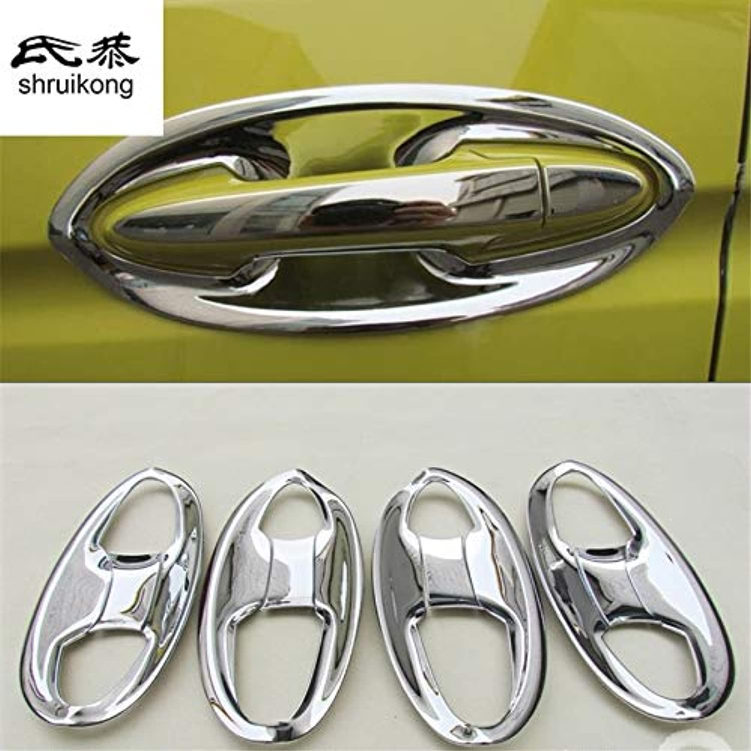 4pcs for Honda FIT 3 MK3 2014 car Stickers Door Bowl Decoration Sequins ABS Chromium Styling
