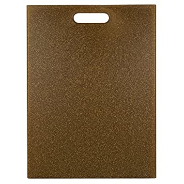 EcoSmart PolyFlax Cutting Board, Brown, 12  by 16 , Recycled Plastic and Flax Husk, Made in the USA by Architec