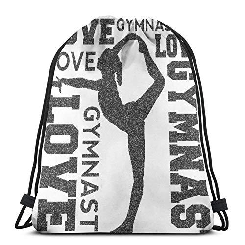 Love Gymnastics Gymnast Unisex Home Gym Saco Bolsa Deporte Mochila con cordón