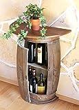DanDiBo Table Murale Table Tonneau à vin 0373-R Brun Armoire Casier à vin Tonneau 73cm Desserte