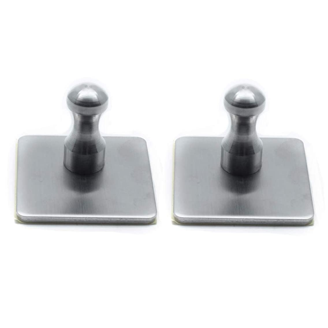 Autoly Towel Hook Self Adhesive Hooks Stainless Steel Hanging Wall Hook for Robe Coat Bathroom, 2 Pack