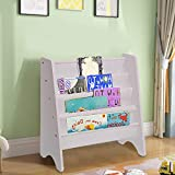 Youyijia Sling Bookcase 60x26.5x61cm Children Storage Book Shelf Kids Bedroom Playroom Storage Bookshelf