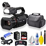 Panasonic HC-X2000 UHD 4K 3G-SDI/HDMI Pro Camcorder with 24x Zoom W/Soft Case + Sandisk Extreme Pro 64GB Card + Clean and Care Set + More - Starter Bundle