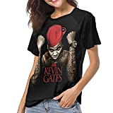 Photo de Kevin Come and Gates Come and Satellites T Shirt Womens Baseball Round Neck Short Sleeve T Shirts