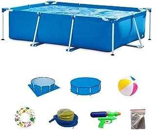 DEAR-JY Piscinas Desmontables,450x220x84CM,Protección del Medio Ambiente PVC,Piscina con Marco Rectangular Azul,Piscina Infantil Infantil Interior y Exterior para Adultos de Gran Capacidad
